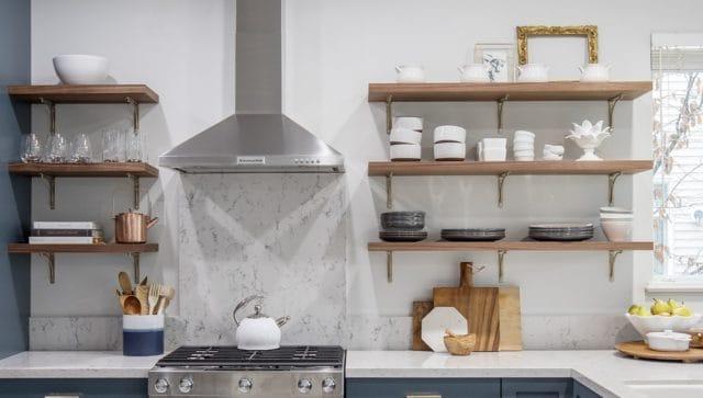 Merit Kitchens Langley Open Shelf Kitchen Design Trends