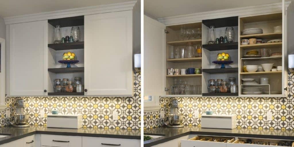 Merit Kitchens Langley Open Shelves Design Trends